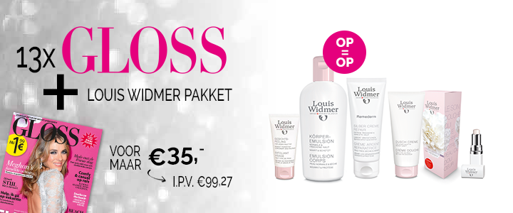 13x GLOSS voor € 35,- + Louis Widmer pakket i.p.v. € 99,27